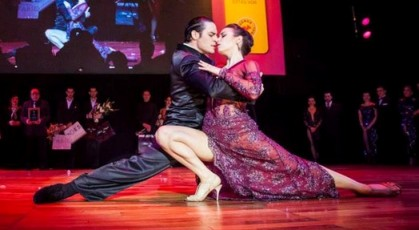 Piazzolla tango show where the tango champions are dancing